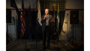 Marc Jolin, director of the Joint Office of Homeless Services and the A Home for Everyone initiative, speaks during a celebration for the A Home for Every Veteran initiative Feb. 24, 2017.