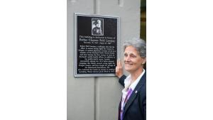 Plaque of Esther Clayton Pohl Lovejoy