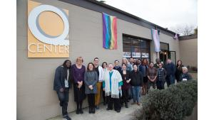 Leaders and advocates in the LGBT community meet at the Q Center for a dinner and listening session with Multnomah County Chair Deborah Kafoury on March 18, 2017.