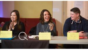Multnomah County Chair Deborah Kafoury smiles while holding her Shining Star award during a listening session at the Q Center on March 18, 2017.