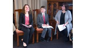 Chair Deborah Kafoury, Jeremy Clark and Commissioner Chloe Eudaly