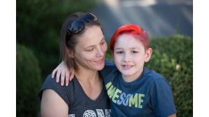 Tiffany and her son Stryker credit the fresh produce from the CSA with helping him grow strong.