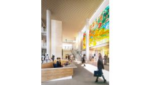 Lobby interior of new Central Courthouse