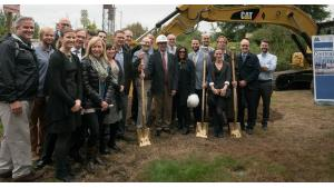 Members of the courthouse project team pose for picture