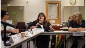 Council member speaking