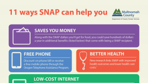 poster of ways snap can help