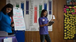Tana Barnett, one of the youth commissioners, helped coordinate a legal workshop on immigrant rights.