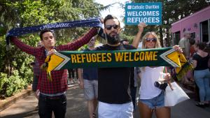 Thousands march with Immigrants and Refugees, Aug. 20, 2017