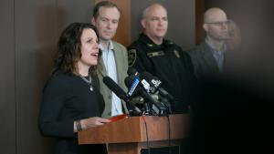 Multnomah County Chair Deborah Kafoury explains the community's plan for helping homeless neighbors during severe winter weather at an event Tuesday, Nov. 7, 2017.