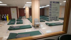 Inside one of the sleeping rooms at the 5th Avenue Shelter.