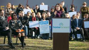 Multnomah County Chair Deborah Kafoury talks about tax reform and affordable housing Tuesday, Dec. 5, 2017.