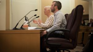 Multnomah County's Environmental Health Director Jae Douglas and inspection supervisor Jeff Martin addressed the board Tuesday