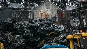 Fire crews wrapped up their work early Wednesday morning.