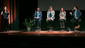Panelists the SPARC kickoff hosted by A Home for Everyone on March 19, 2018, at Revolution Hall.