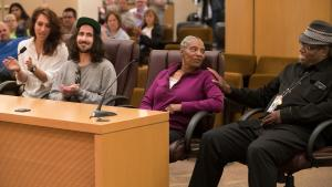 Carolyn Preston, second from right, said the County's LEAD® project has kept her alive and sober, and given her hope.