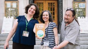 Staff from Central Library worked to achieve the highest level of certification from the Sustainability at Work recognition program.