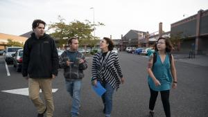 Commissioner Vega Pederson leads tour around the Gateway District in honor of Steptember
