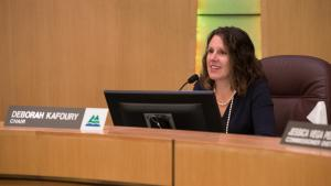 Chair Deborah Kafoury at the Board of Commissioners meeting Nov. 8, 2018.