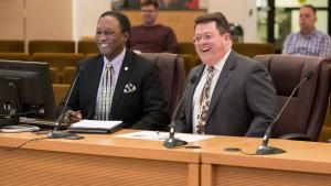 Lee Fleming, the County's Supplier and Diversity Officer and Brian Smith, Manager for the County's Central Purchasing Department share important updates on the Construction Diversity and Equity Fund design with the Board.