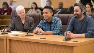 Ed Sablan, owner of the food cart PDX Six Seven One, joined a workgroup to recommend food cart pod regulations.