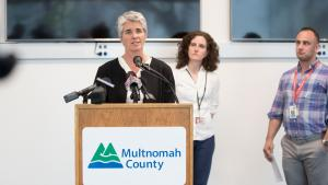 Kim Toevs, Kim Toevs, director of Multnomah County Communicable Disease and Sexually Transmitted Disease Programs, said treatment, condoms and clean syringes help protect against HIV and other infections.