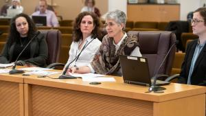 Kim Toevs, director of Communicable Disease and Sexually Transmitted Disease Programs, updates board on need in east Multnomah County.