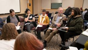 February 2020: East County residents gathered at a community forum to learn about the Here Together ballot measure. The local implementation details how Multnomah County will use the funds raised by the ballot measure, which was approved in May.