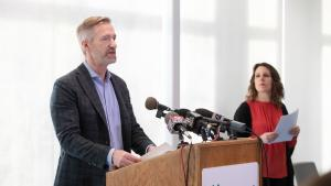 Portland Mayor Ted Wheeler announced steps to reach businesses hurt by COVID-19
