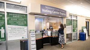 Beginning today, May 3 the Voting Center Express inside the Multnomah County East Building at 800 NE 8th Street in Gresham is open for the May 18, 2021 Special District Election.
