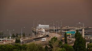 smoke fills the sky above downtown Portland, Sept. 9, 2020