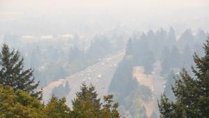 Smoky air during the September 2020 wildfires