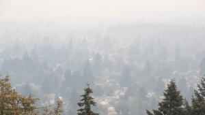Smoky air over east Portland, Sept. 10, 2020