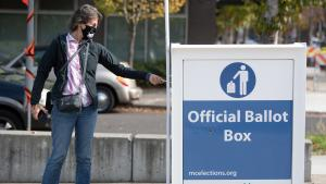 Return your voted ballot to an Official Ballot Drop Site. It is too late to return your ballot by mail. Postmarks do not count in Oregon.
