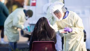 Multnomah County REACH's free weekly flu shot and COVID-19 testing site, held every Wednesday at PCC Cascade Campus, 11 a.m. to 6 p.m. through March 31st.
