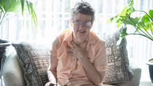 Molly Cooley, 76, struggled to secure an appointment for her COVID-19 vaccine until a mobile team came to her adult care home.