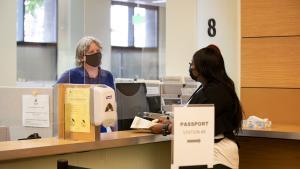 Visitors to Multnomah County wearing masks