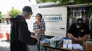 The outreach is a lifeline for community members in need — an attempt to meet people where they're at and change the way services are delivered.