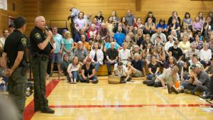 Community Meeting on the Eagle Creek Fire at Corbett High School