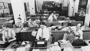 Central courthouse newsroom