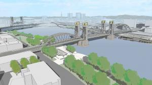 A new long span Burnside Bridge could have an arch design.