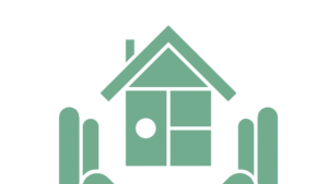 Icon of hands holding a house.