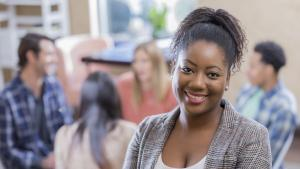 Smiling professional black woman