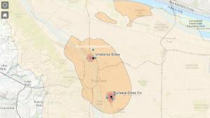 Estimated cadmium concentrations map screen cap