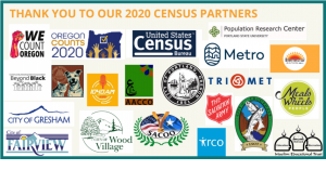 Thank you Census partners