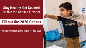 An image of a child in a public service announcement on the Census.
