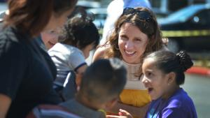 Chair Kafoury at We Got Your Back! school supply giveaway