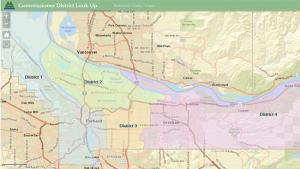 Commissioner district look up map