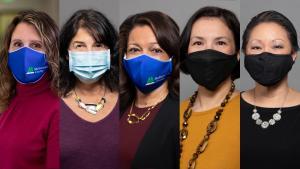 Board in masks.