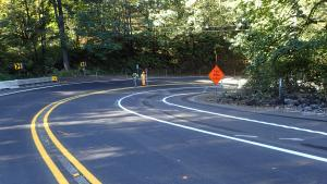 Completed curve realignment and paving on Cornelius Pass Road S Curves, 9-29-2020