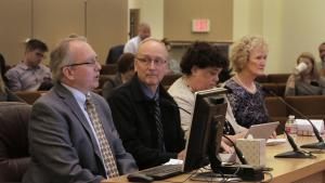 From left: Project Manager JD Deschamps, Owner's Representative Mike Day: Presiding Judge Nan Waller; and Director of Government Relations Claudia Black